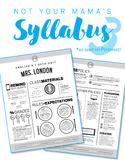 Custom Nontraditional Syllabus #3