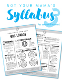 Custom Nontraditional Syllabus #3  (software: InDesign/LucidPress required)