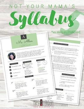 Custom Nontraditional Syllabus #5 (GOOGLE DRAWINGS!)