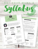 Nontraditional Syllabus Template #5 (GOOGLE DRAWINGS!)