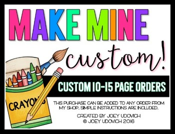 Custom Order: 10-15 Pages