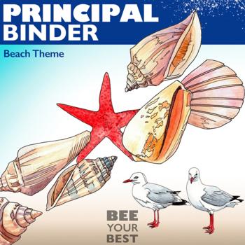 Principal Binder in Shabby Chic BEACH THEME