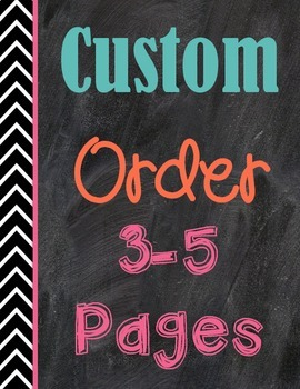 Custom Order {3-5 pages}