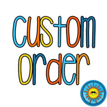 Custom Order Info