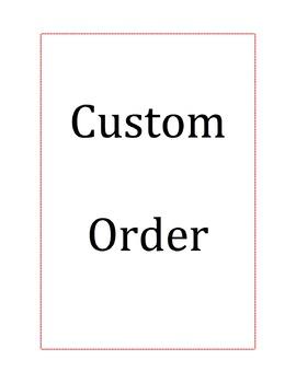 Custom Order Bonnie Williams