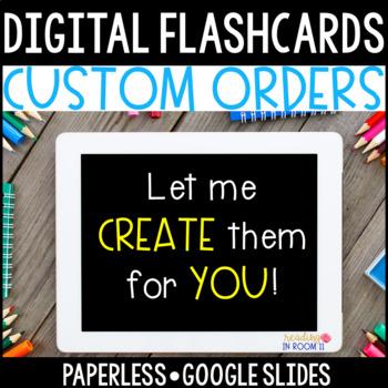 Custom Order: Digital Flash Cards