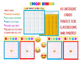 Custom Order Request for Emoji Bingo