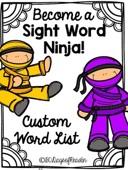 Custom Order:  Sight Word Games and Activities