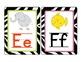 Custom Order: Zebra Alphabet Cards Lined Font with Vowels
