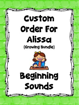 Custom Order for Alissa