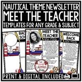 Nautical Meet the Teacher Editable: Back to School Night,