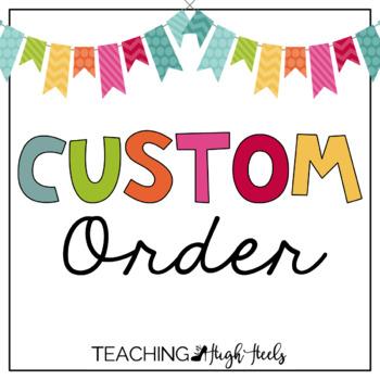 Custom Order for Colleen