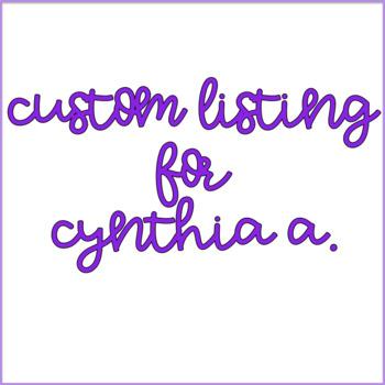 Custom Order for Cynthia A. (2)