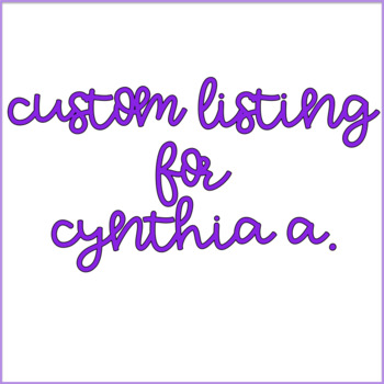 Custom Order for Cynthia A. (5)