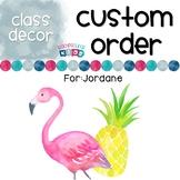 Custom Order for Jordane