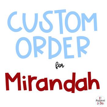Custom Order for Mirandah O.