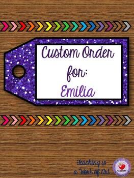 Custom Order for Emilia