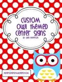 Custom Owl Themed Center Signs for Amber
