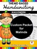 Custom Packet - Malinda - Halloween Theme Based Handwriting Lessons
