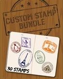 Custom Passport Stamp Bundle - 30 Stamps