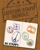 Custom Passport Stamp Bundle - 30 Stamps