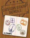 Custom Passport Stamp Bundle - 4 Stamps