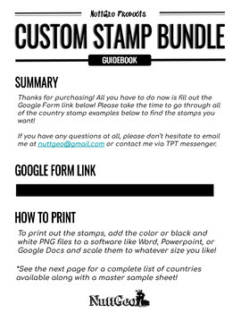 Custom Passport Stamp Bundle - 50 Stamps