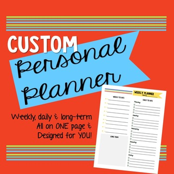 Custom Personal Planner