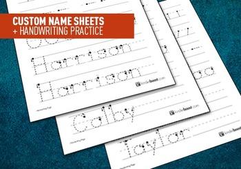 Custom Name Sheets + Handwriting Practice