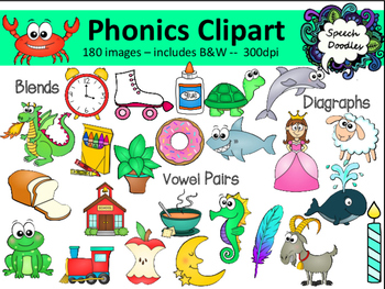 Phonics Bundle - 180 images!