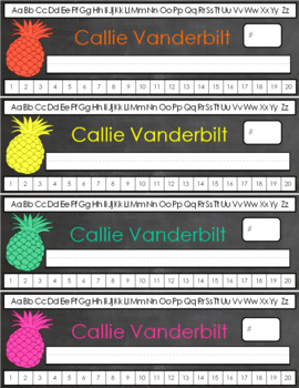 Custom Pineapple Nameplates