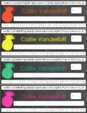 Custom Pineapple Nameplates
