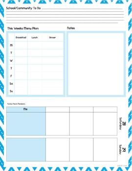 Custom Planner Weekly Planner Sheets 2017
