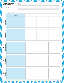 custom planner weekly planner sheets 2018 by melissa schaper tpt