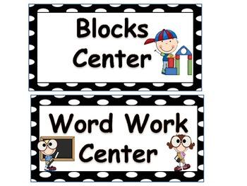 Custom Polka Dot Center Cards