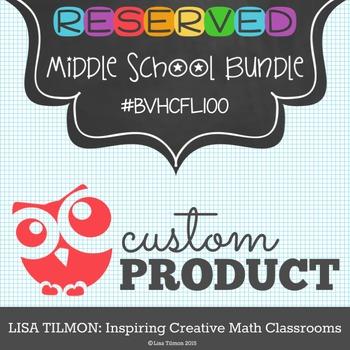 Custom Product Middle School Bundle (BVHCFL100)