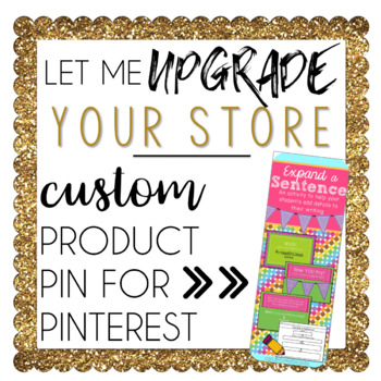 Custom Product Pin for Pinterest
