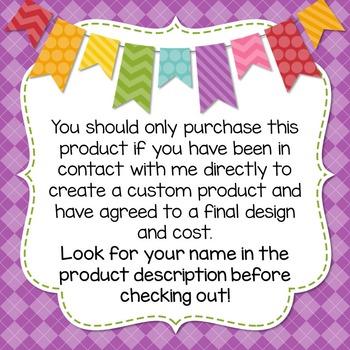 Custom Product Purchase ~Read Carefully!~