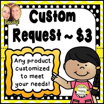 Custom Request ~ $3