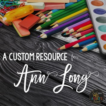 Custom Request:  Class Newsletter Templates and Web Images for Ann Long