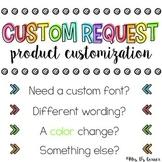 Custom Request { Product Customization } for Mrs. D's Corner