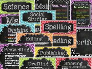 Custom Resource:  Editable Chalkboard Themed Classroom Decor for Natalie Letty