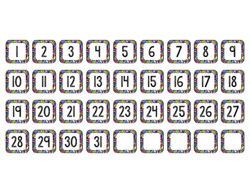 Custom Resource:  Number Cards 1-31 for Natalie Letty