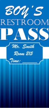 Custom Restroom / Bathroom Pass