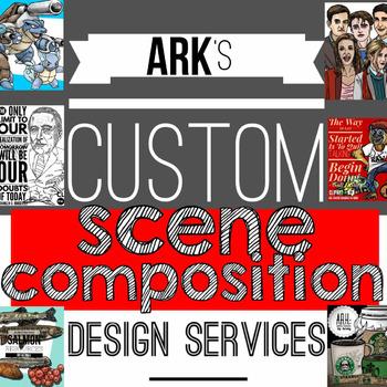 Custom Scene/Graphic Composition design Service