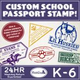 Custom School Passport Stamp!
