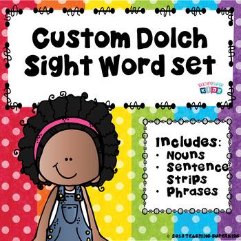 Custom Sentence Strips, Phrases and Noun Flash Cards