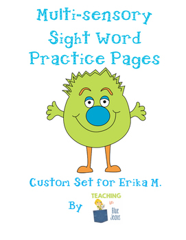 Custom Set for Erika M. - Spanish Sight Word Pages
