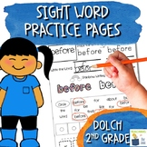 Sight Word Practice Pages | NO PREP | Dolch 2nd Grade Sight Word List | 1st 2nd