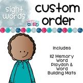Custom Sight Word Playdoh & Word Building Mats